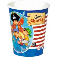 Contient : 1 x 8 Gobelets Pirate Sharky