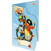 8 invitations Pirate Sharky