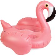 Porte Gobelets Gonflable Flamant Rose
