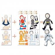 2 Pantins Super Héros/Cosmonaute à Personnaliser