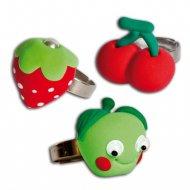 Kit Créa 3 Bagues Fruits à Modeler
