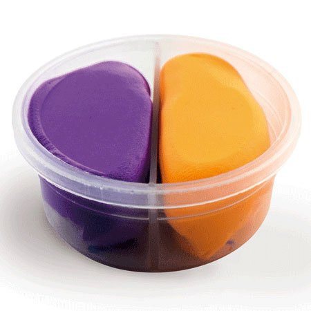 Duo pâte à modeler Violet/Orange Fluo Padaboo
