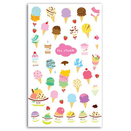 Stickers jelly Ice Cream