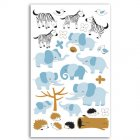Stickers feutrine Z�bres/El�phants