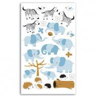 Stickers feutrine Zèbres/Eléphants
