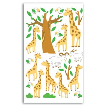 Stickers feutrine Girafes