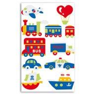 Stickers feutrine Transports