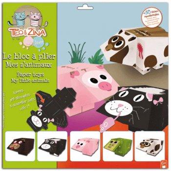 Bloc Paper Toys z animaux 3D