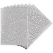 10 Sachets Transparents Etoilés (17 cm)