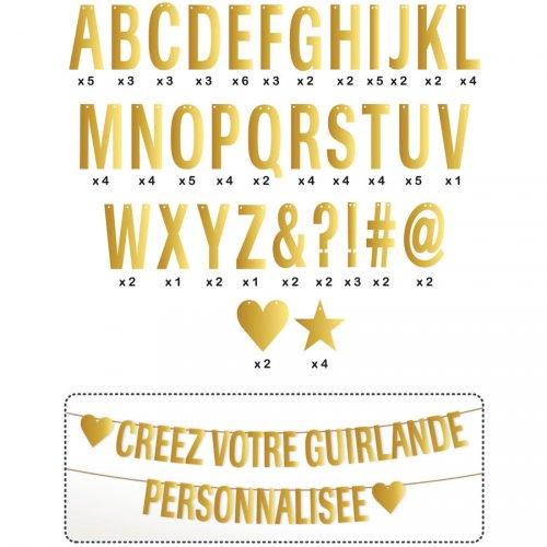 Guirlande de Lettres Or à Personnaliser (8 m)