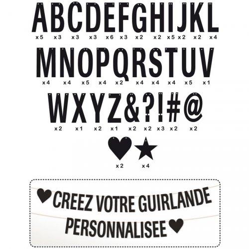 Guirlande de Lettres Noir à Personnaliser