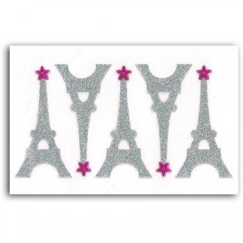 5 Stickers Tours Eiffel Strass