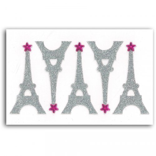 5 Stickers Tours Eiffel Strass