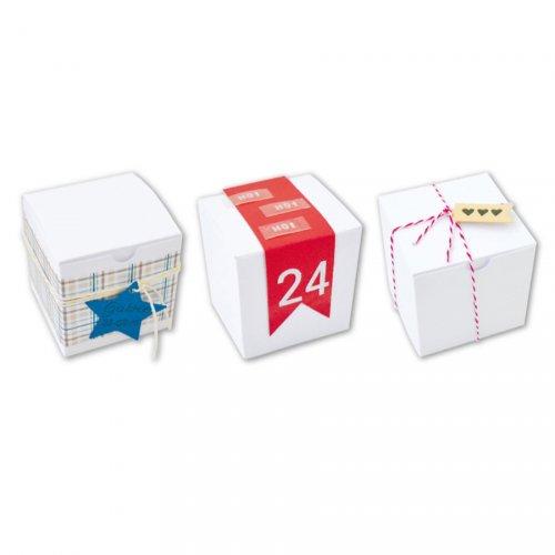 6 Mini Boites Cubes (5,5 cm) à décorer - Carton Blanc