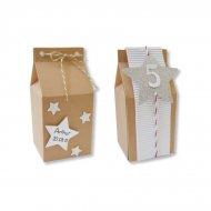 6 Petites Boites à lait (7 cm) à décorer - Carton Kraft