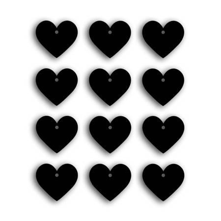 Étiquettes Tags Ardoise - Petits Coeurs
