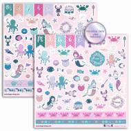 114 Stickers Sous La Mer