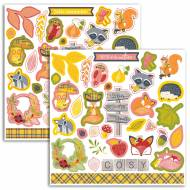 72 Stickers Nature Automne