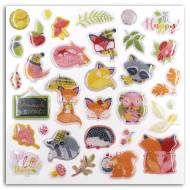 33 Stickers Renard