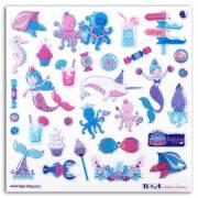 32 Stickers Sous La Mer