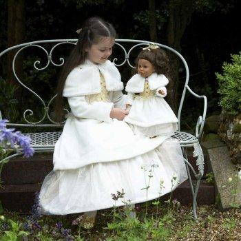 Robe de Poupée Princesse Hiver