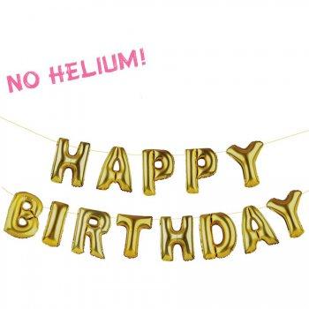 Guirlande Ballons Happy Birthday Or
