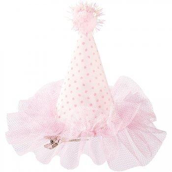 Pince Mini-Chapeau Tulle Love Pink