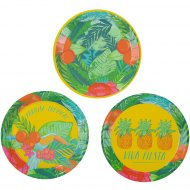 12 Mini Assiettes Paradis Tropical