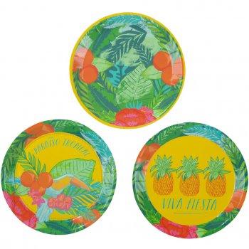 12 Mini Assiettes Paradis Tropical