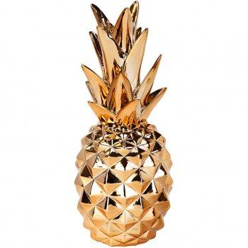 Décoration Ananas 3D Or Cuivré (24 cm)
