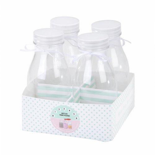 4 Petites Bouteilles de lait vintage - Plastique