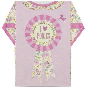 8 Serviettes T-shirt Pony Party