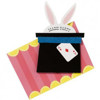 12 Invitations Magic Party