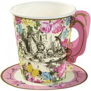 12 Gobelets � soucoupes D�licieuse Alice