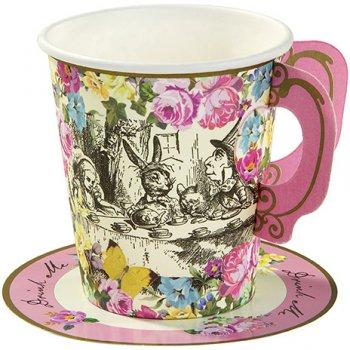 12 Gobelets à soucoupes Délicieuse Alice