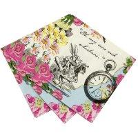 Contient : 1 x 20 Petites Serviettes Délicieuse Alice