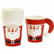 8 Petits Gobelets Père Noel Santa