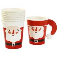 8 Petits Gobelets P�re Noel Santa