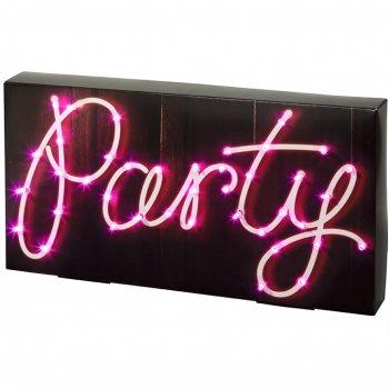 Déco Lumineuse Party (40 cm) - LED et Carton