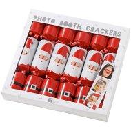 6 Crackers Père Noël Photo Booth (25 cm)