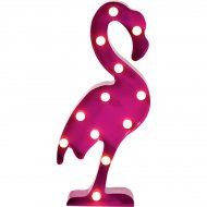 Lampe Led Flamant rose (52 cm) - Métal