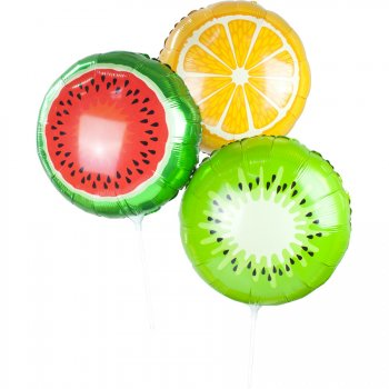 3 ballons Fruits Exotic Summer