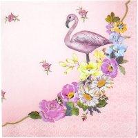 Contient : 1 x 20 Petites Serviettes Flamant Rose Romance