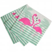 20 Serviettes Flamant Exotic Summer