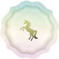 12 Assiettes Licorne Love Pink