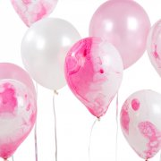 12 Ballons Love Pink
