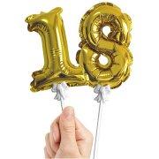 12 Mini Ballons chiffre OR (13 cm)