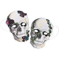 Contient : 1 x 8 Masques Fête des Morts Baroque - Carton