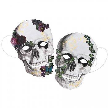 8 Masques Fête des Morts Baroque - Carton