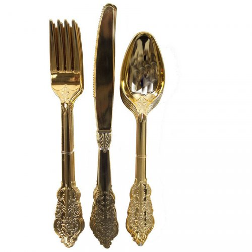 Set 18 Couverts Or Baroque